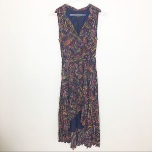 NWT Greylin Anthro abstract print high low  dress